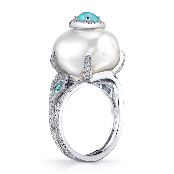 Erica Courtney Perola batoque pearl ring | JCK On Your Market