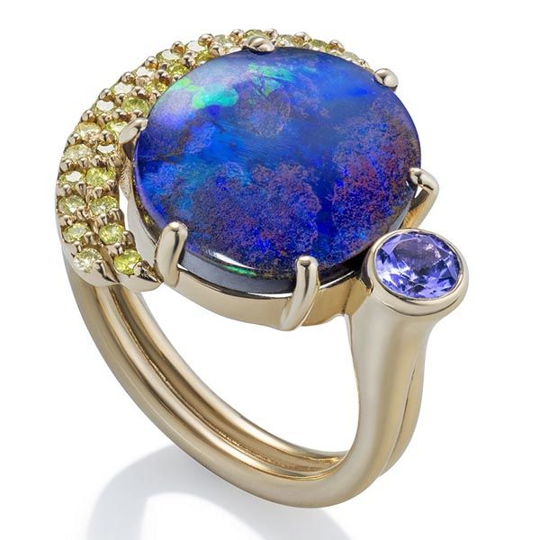 Martha Seely opal Earthrise ring