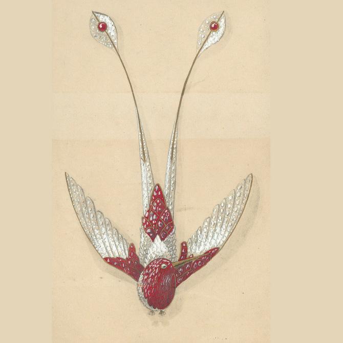 Ruby Joanna Hardy Chaumet Rendering hummingbird
