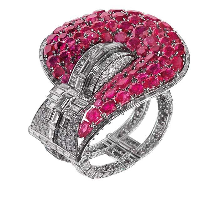 Ruby by Joanna Hardy Ruby and Diamond Jarrietiere Bracelet Van Cleef & Arpels