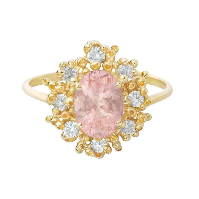 Ruta Reifen Morganite and Diamond Ring