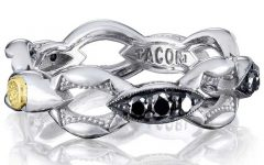 Tacori Ivy Lane black diamond link silver ring