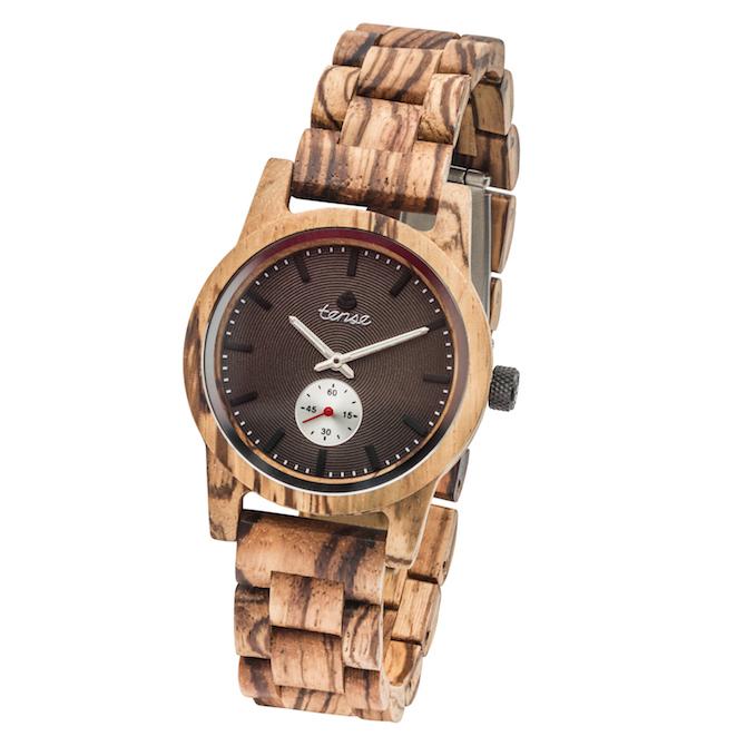 Tense Watch Hampton zebrawood watch | JCK On Your Market