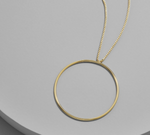 bauble bar tondo pendant necklace