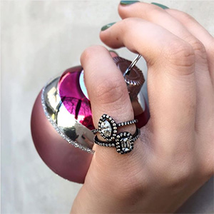 colette jewelry instagram holiday spirit rings