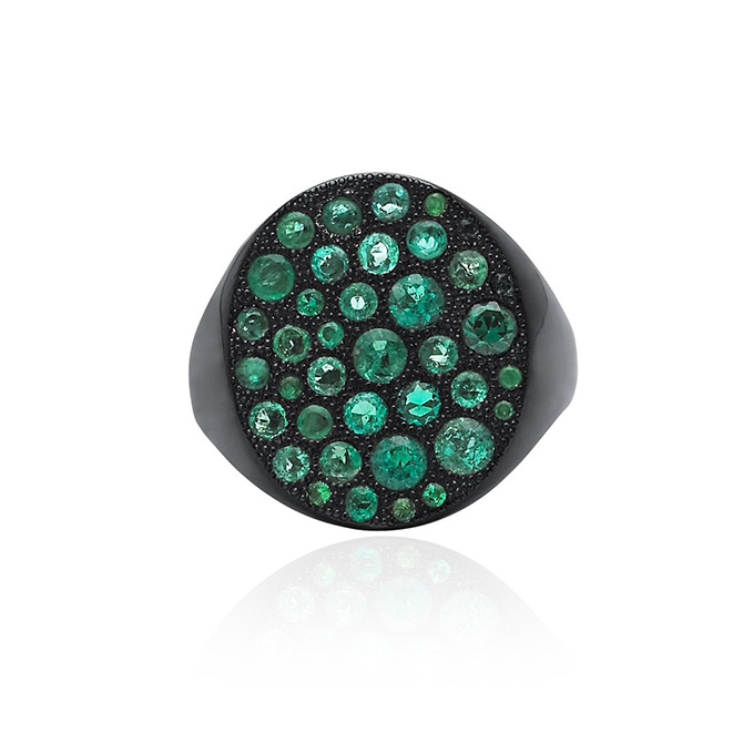 3 Colette Emerald Ring