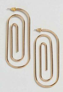 ASOS Metal Oval Spiral Earrings