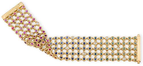 reversible sapphire multicolor bracelet