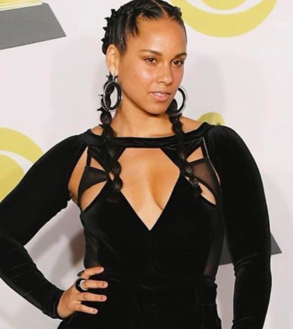 Alicia Keys Lorraine Schwartz earrings grammys