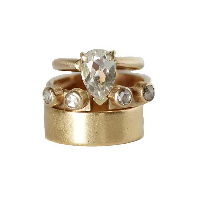 Ana Cavalheiro Engagement Ring Set