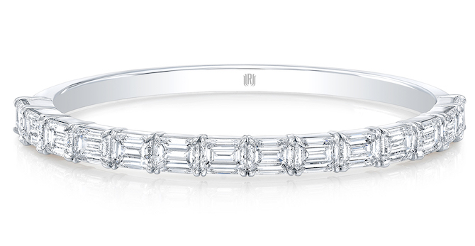 Rahaminov emerald cut diamond bangle