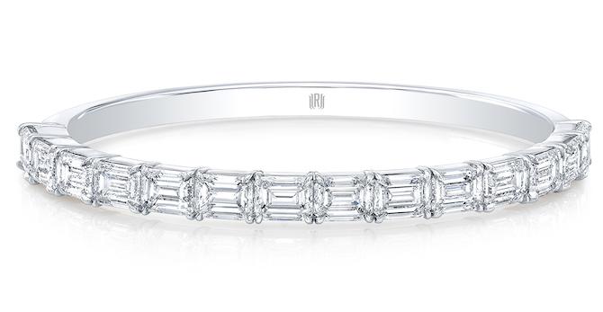 Rahaminov emerald cut diamond bangle