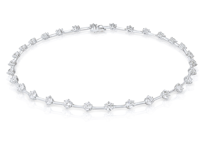 Rahaminov diamond bar necklace