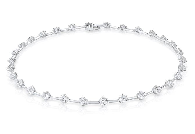 Rahaminov diamond bar necklace
