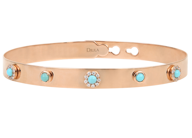 Djula turquoise and diamond bracelet