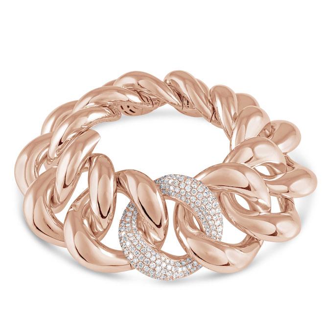 Hulchi Belluni rose gold link bracelet