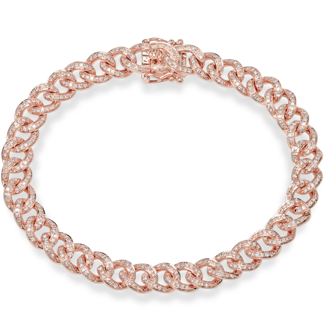 Shy Creation rose gold llink bracelet