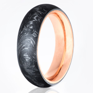 Carbon6 mens new wedding band