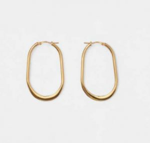 Celine PRECIOUS HAMMERED HOOPS IN VERMEIL WITH GOLD FINISHING