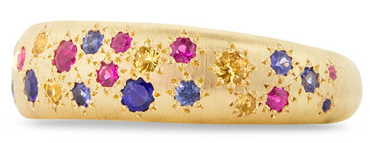 multicolored sapphire adel chefridi ring