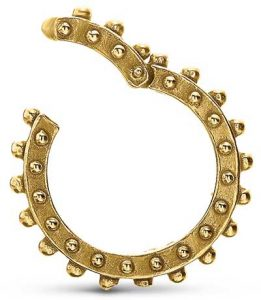 Delphine Leymarie gold clicker charm ring
