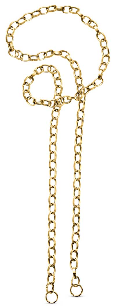 Delphine Leymarie open link gold chain