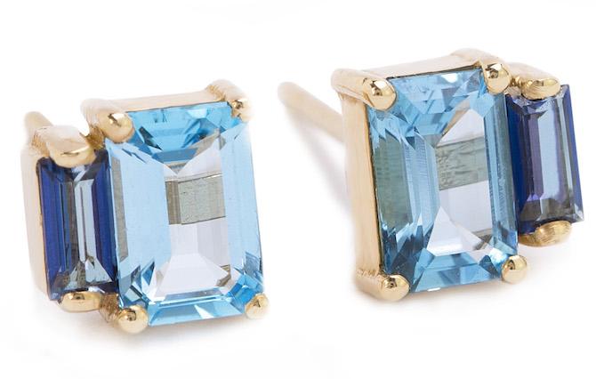Suzanne Kalan Amalfi blue topaz earirngs