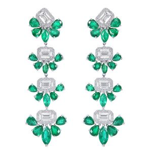 Earrings French Girl Chic Emerald Djula