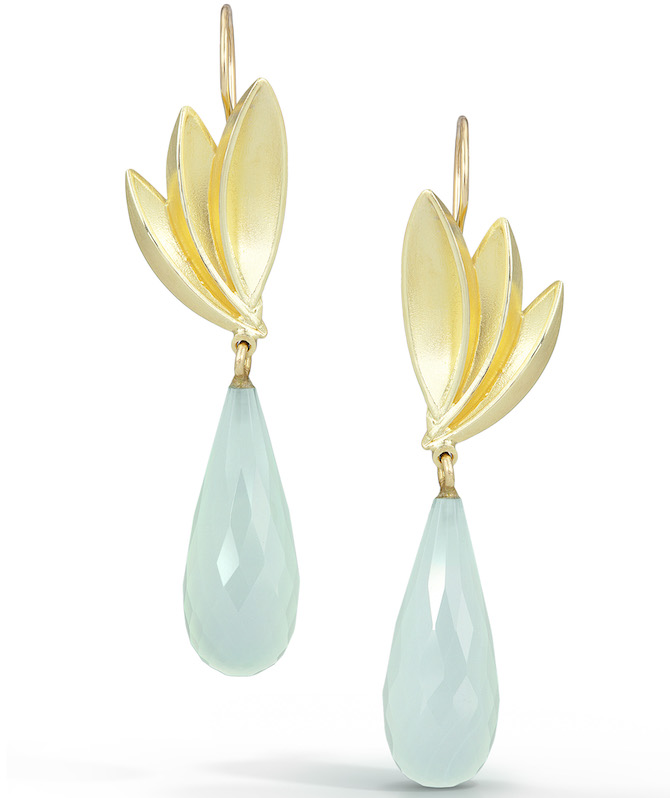 Thea Izzi chalcedony Bird of Paradise earrings