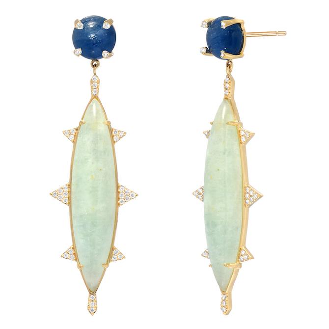 Rock and Gems Jewelry kyanite earrings