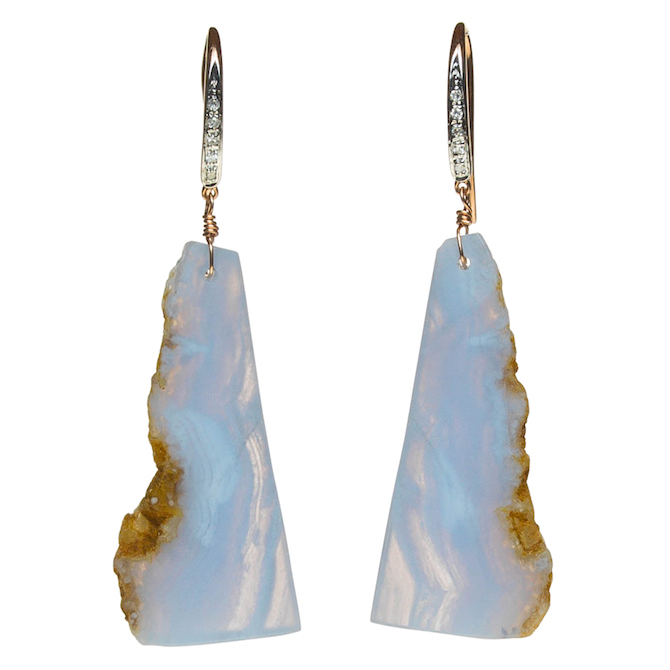 Asbury Adams blue lace agate earrings | JCK On Your Market