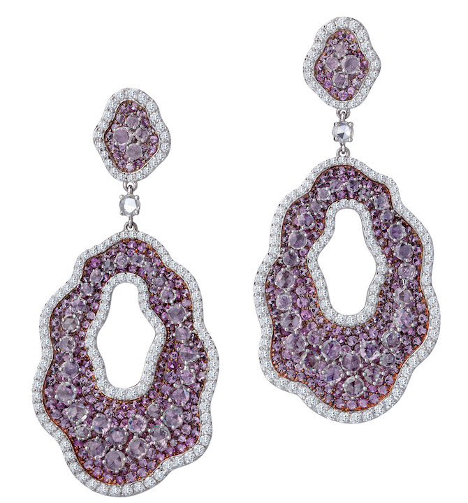 Bapalal Keshavlal pink sapphire earrings | JCK On Your Market