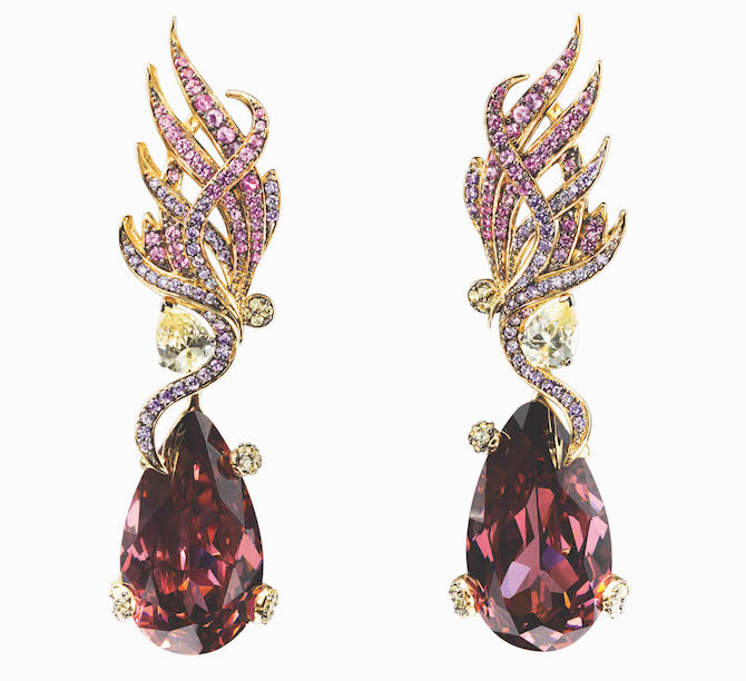 Anabela Chan Pink Feather earrings