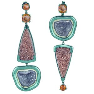 The Rock Hound Chromanteq geode earrings