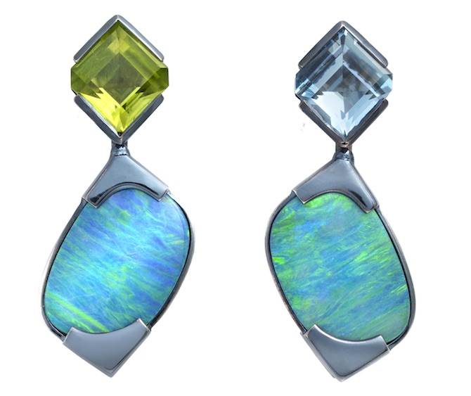 The Rock Hound Chromanteq opal earrings | JCK On Your Market
