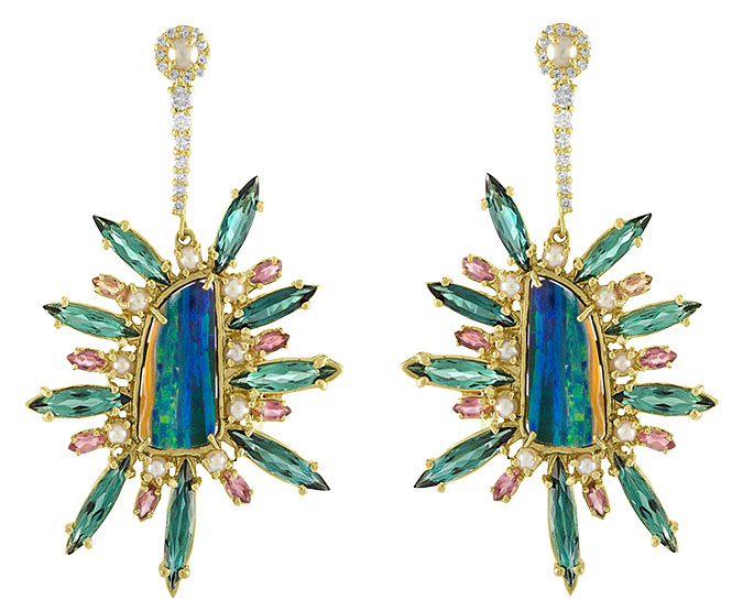 Eden Presley boulder opal spike earrings