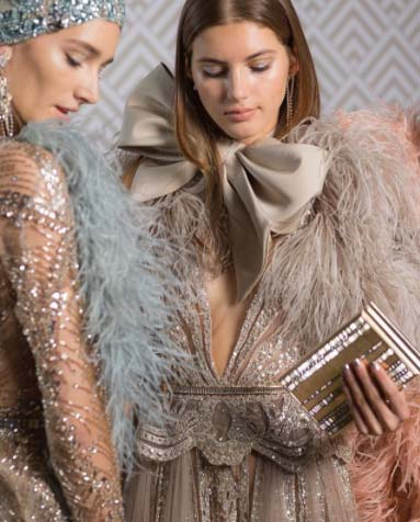 Elie Saab Spring spring 2018 couture jewelry bow