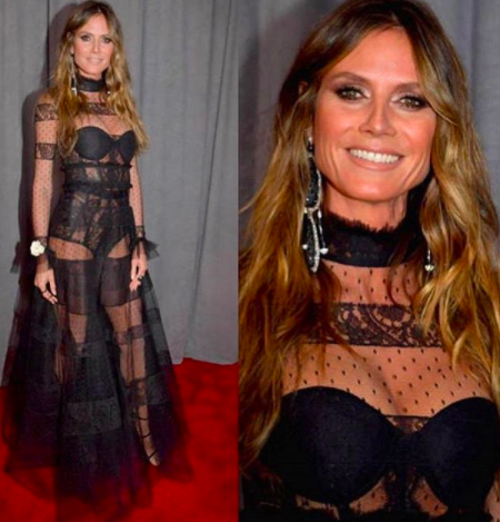 Heidi Klum Lorraine Schwartz earrings grammys