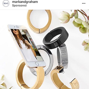 Shopping Instagram jewelry ad