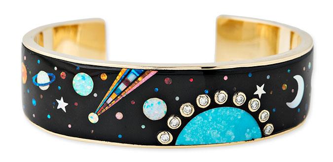 Jacquie Aiche opal inlay galaxy mosaic cuff
