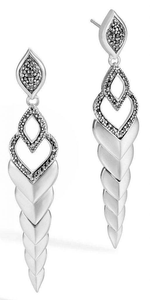 John Hardy silver legends Naga earrings