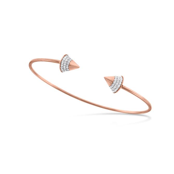 KC Designs Rose gold and diamond bangle