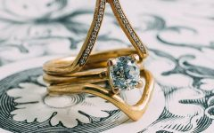 Atticus engagement ring and stacking bands set Vena Amoris