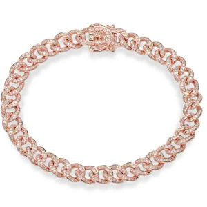 Shy Creation rose gold link bracelet