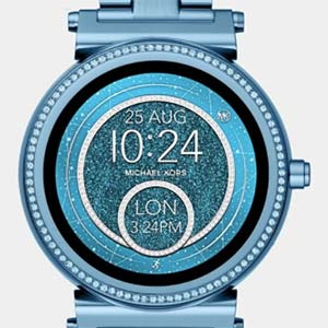 73dae7f58508 Michael Kors' Access Sofie smartwatch, the brand's connected timepiece for  women, has a glittery new face for spring.