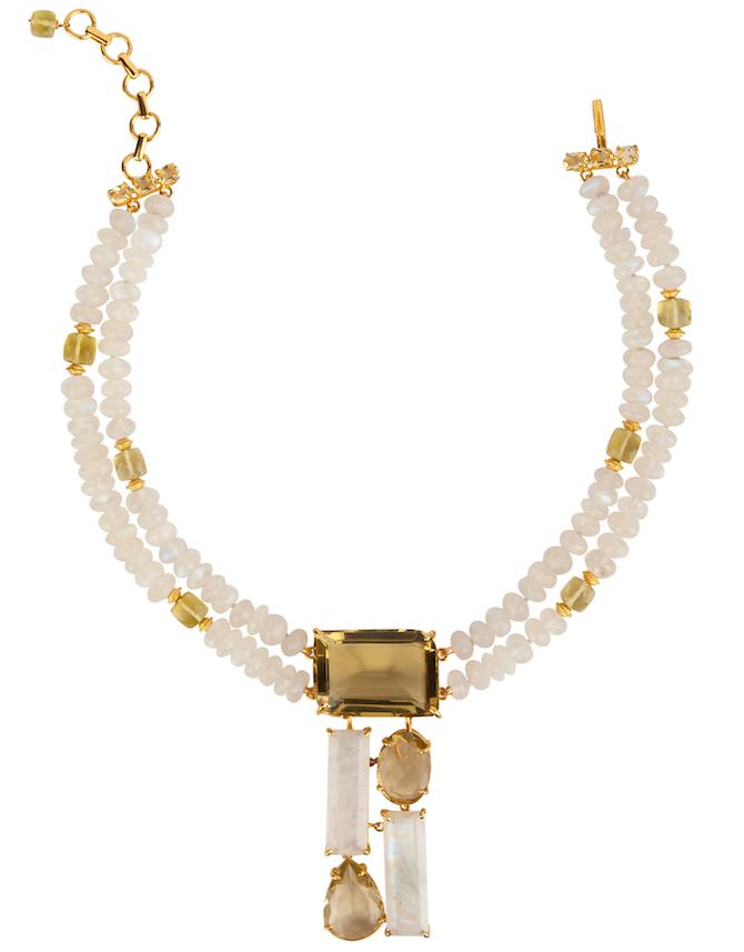 Bounkit moonstone and lemon quartz necklace | JCK On Your Market
