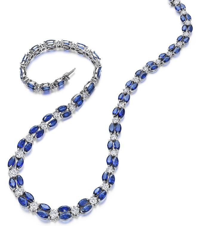 Oscar Heyman sapphire and diamond necklace | JCK On Your Market