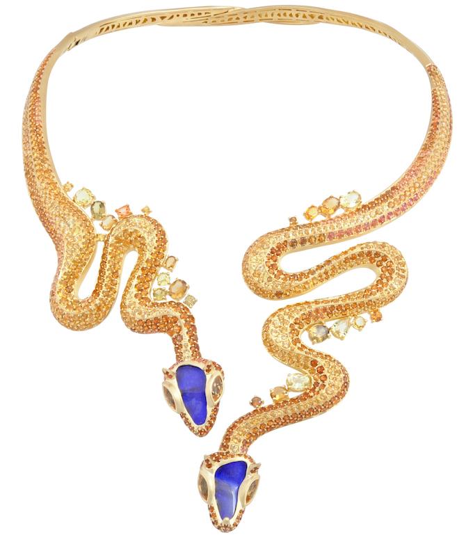 Lydia Courteille Sahara snake necklace | JCK On Your Market