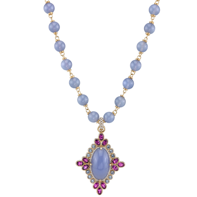 Erica Courtney Majesty chalcedony necklace | JCK On Your Market