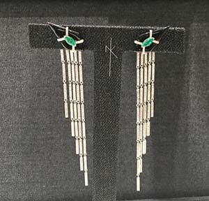 Nikos Koulis earrings emerald